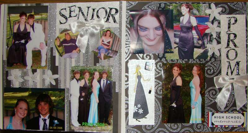 2 page spread for Senior Prom