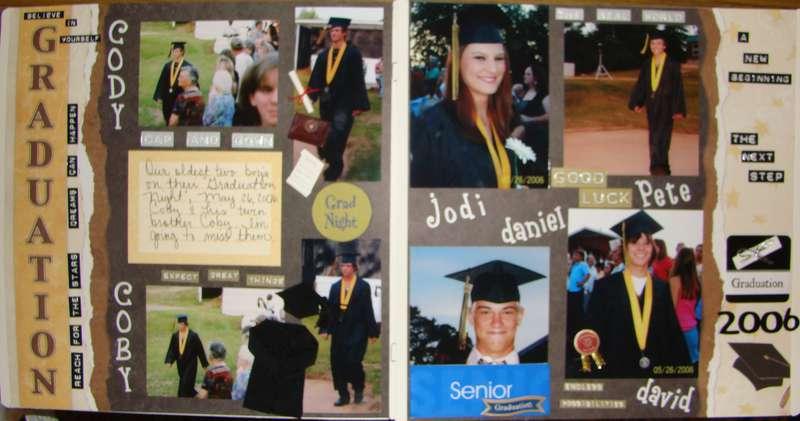 2 page spread of High School graduation