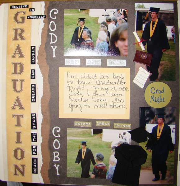 High School Graduation......Our Twin Boy's...1st page