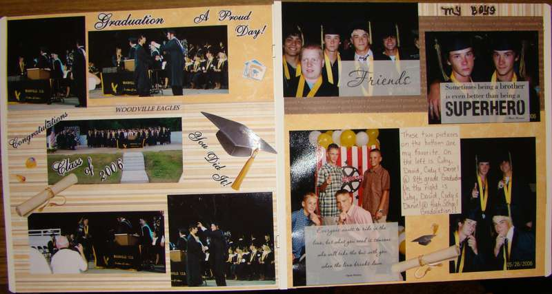 2 page spread........A Proud Day!