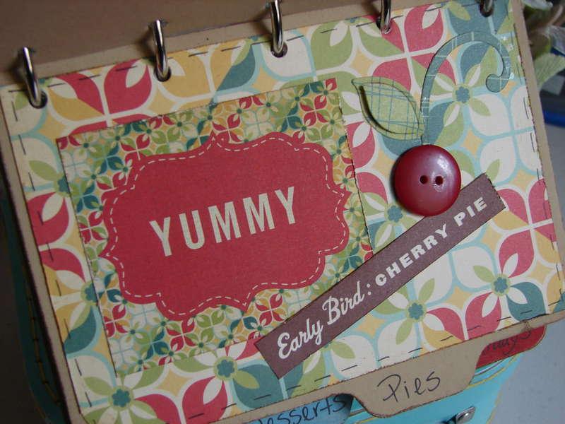 """Cosmo Cricket """"Early Bird"""" family recipe book"""