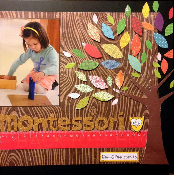 Growing up Montessori (right side of 2 page layout)