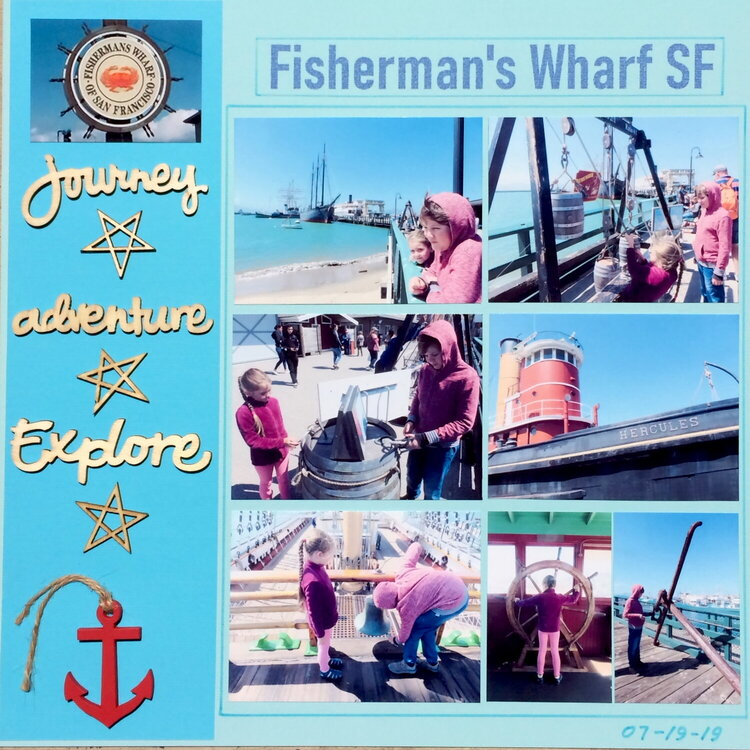 The Fisherman's Wharf of San FranciscoVery simple