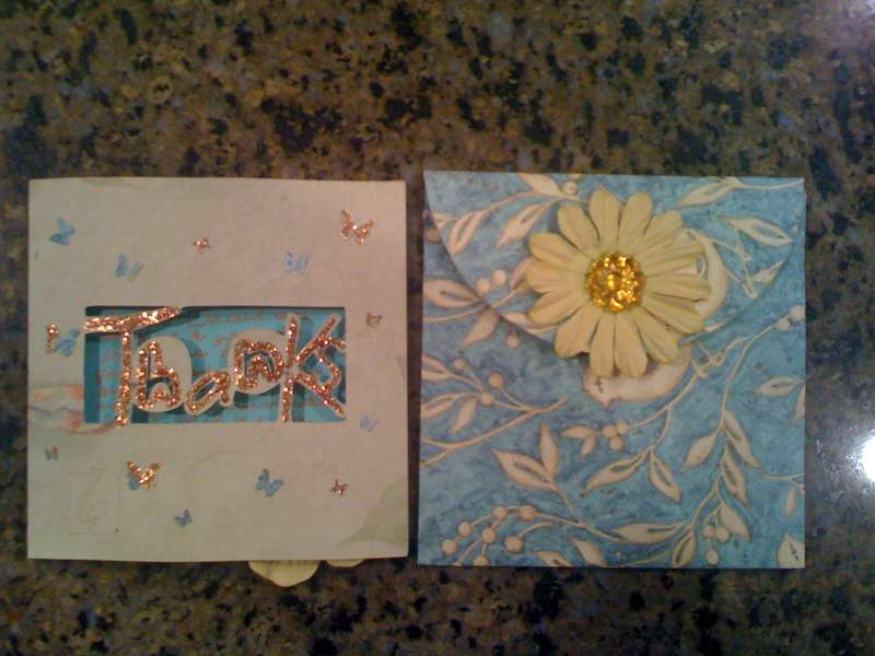 Thank You Card & Envelope