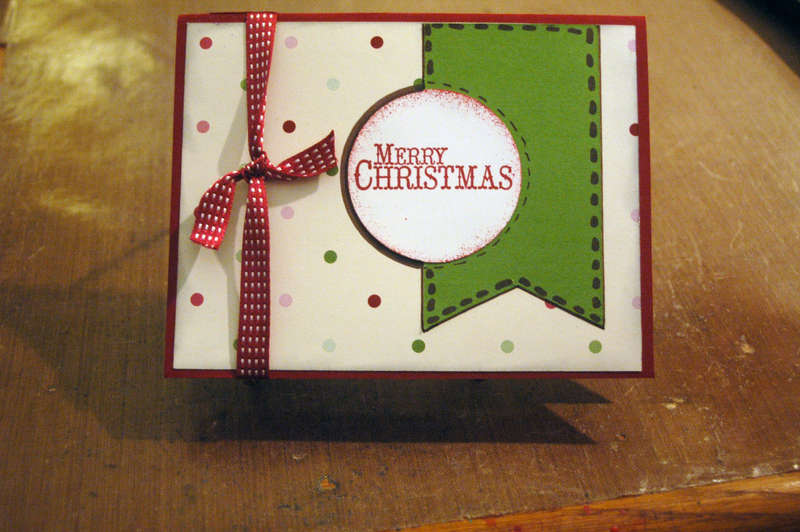 Stampin' Up Christmas Card for Operation Handmade Blessings