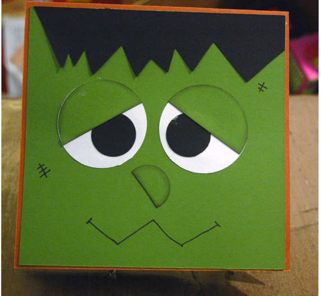Frankenstein Card for Operation Handmade Blessings