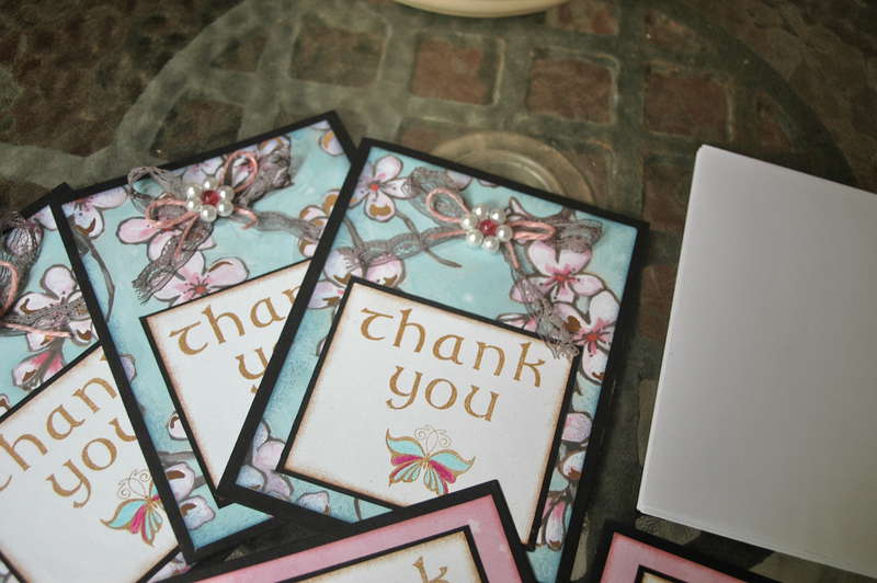 Blooming Thank You Card Set