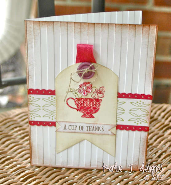 A Cup of Thanks (Stampin' Up Card)