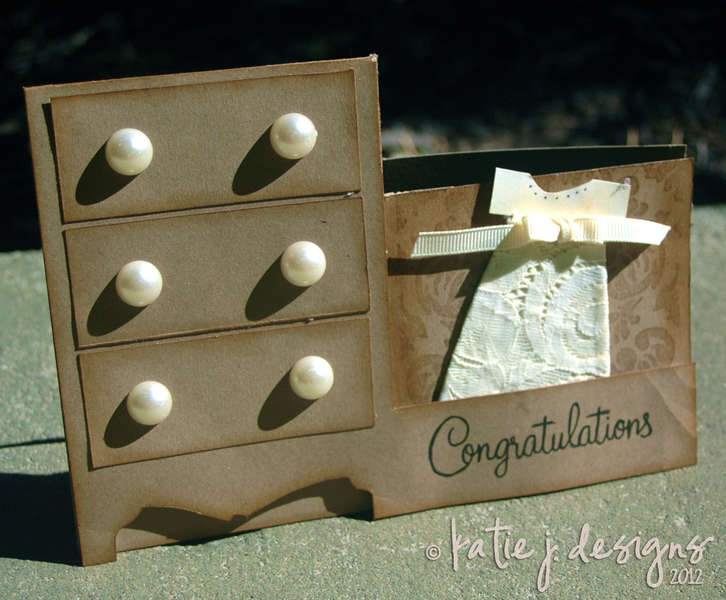Congratulations Baby Dresser Card