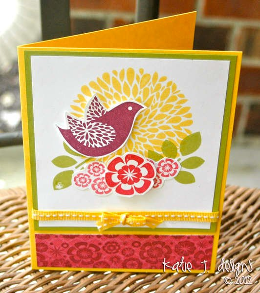 Joyful Nature (Stampin' Up Card)