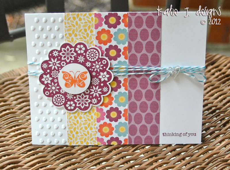 Thinking of You (Stampin' Up Card)