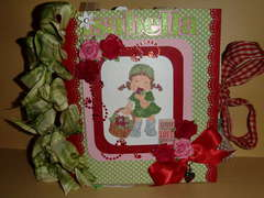 Strawberry themed Paper Bag Album for my Sweetie Pie