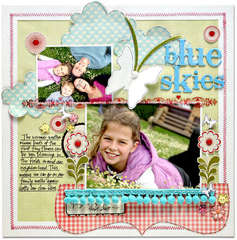 Blue Skies *NEW Pink paislee*