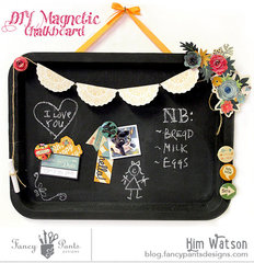 Magnetic/ Chalkboard notice board