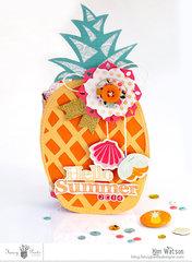 Pineapple mini book *Fancy Pants Designs*