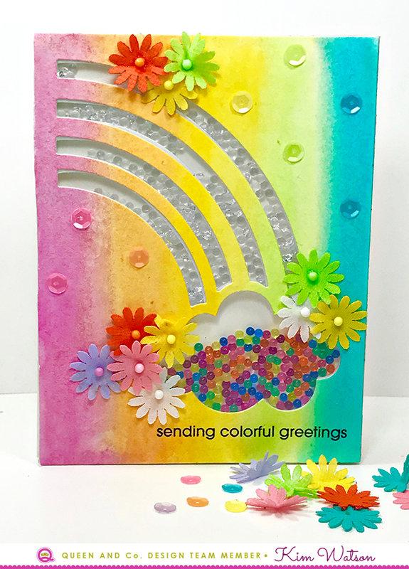 Rainbow card *Queen & Co*