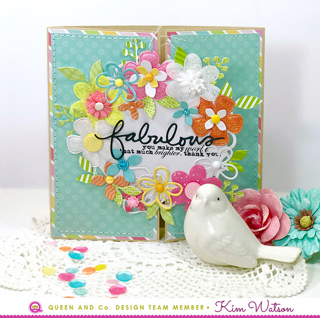 Fabulous Gatefold card *Queen & Co*
