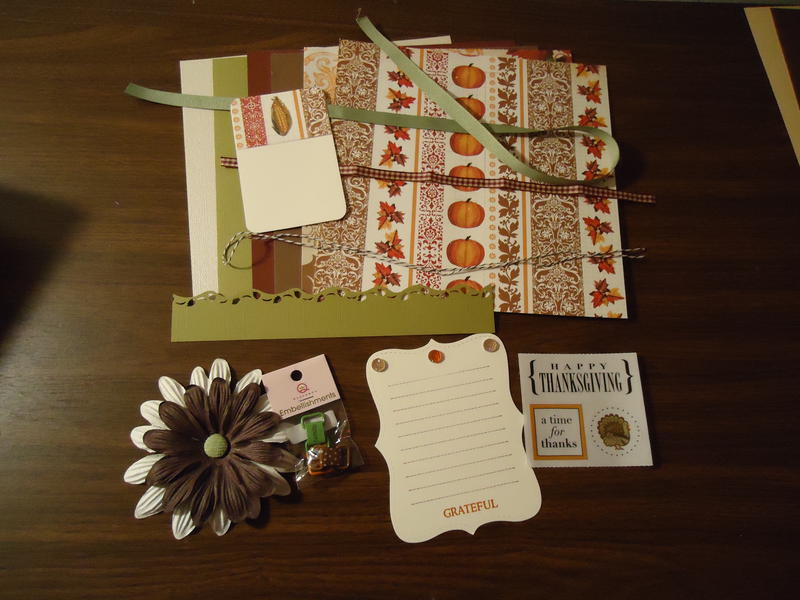 November Kit Swap (Give Thanks /Thanksgiving)
