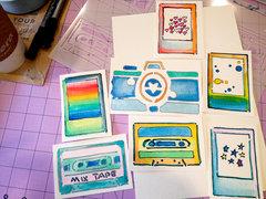 Stencil Watercolor Cards