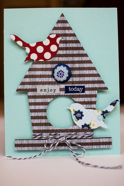 listgirl Enjoy Today Birdhouse Card *Lily Bee*