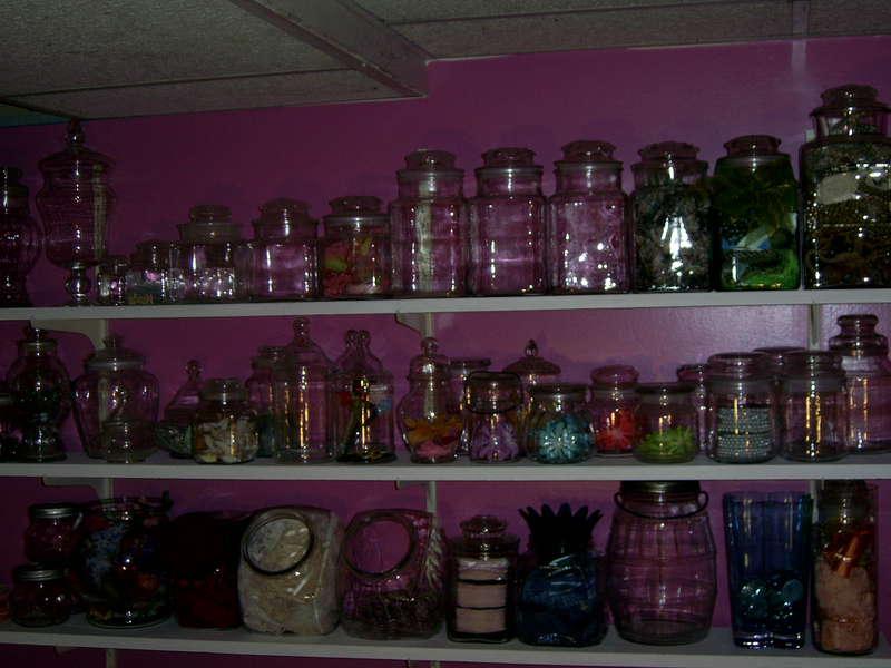 Jars to organize embellishments