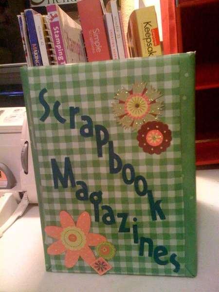 Altered Scrapbook Mag box