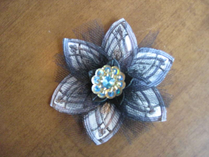 tulle and cut out flower