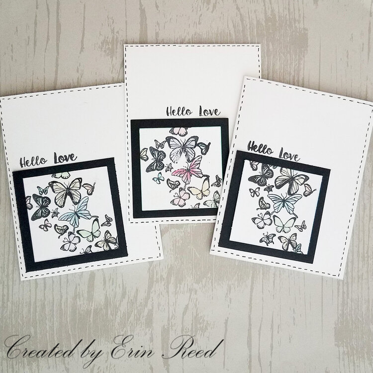 Butterfly Stamped Cards