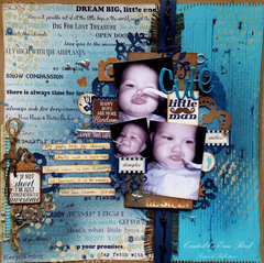 Cute Little Man **Video** Canvas Corp Brands & Xyron & Die~Namites Die & Paper House