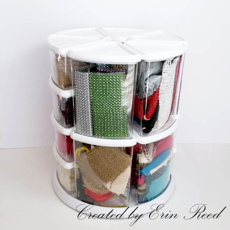 Double Stacked Rotating Organizer w/video tutorial