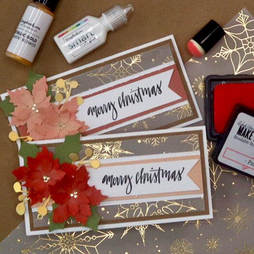 Floral Christmas Mini Slimline Card