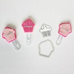 cupcake felt clips