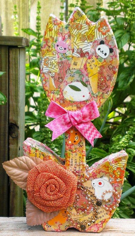 Deco Flower **Gauche Alchemy and Flamingo Scraps**