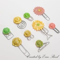 Floral Paperclips w/video tutorial
