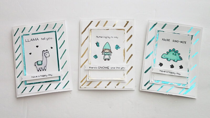 Simple Stamped & Foil Cards