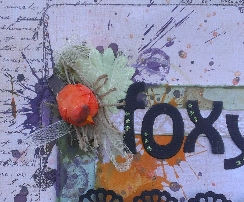 Foxty 2013 **Off the Rails** with splatter stain tutorial