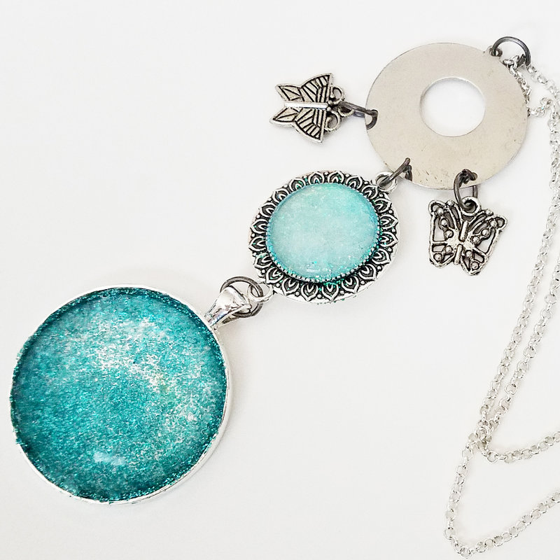 Glitter etched jewelry