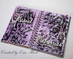 """Sweet memories"" art journal w/video"