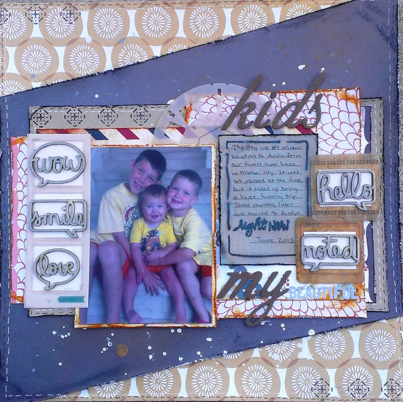 my kids **Birds of a Feather Kit & Just Imagine** with tutorial