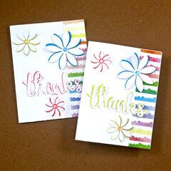 Off Set Flower Cards