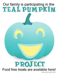 Teal Pumpkin Project - Candy Bucket