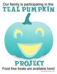 Teal Pumpkin Project - Candy Bucket