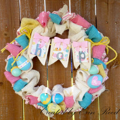 Easter Wreath W/video Tutorial