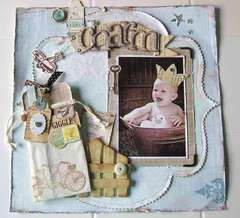 a Little Charm *Shabby Green Door*