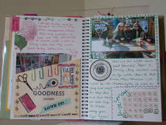 Smash Book Pages.. My scrapbook room & our trip to Red River
