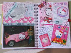 Smash Book Hello Kitty pages