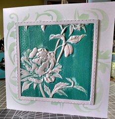 3D Rose Card (blank)