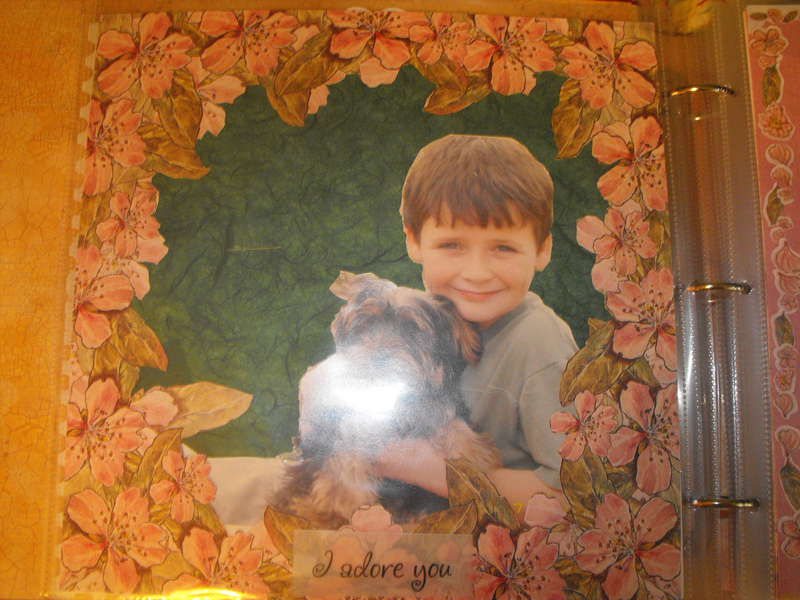Colby and our yorkie Dempsey