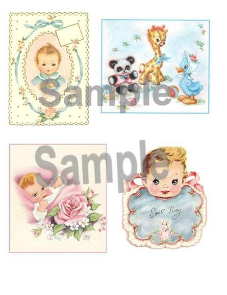 Vitnage BAby Collage Sheet