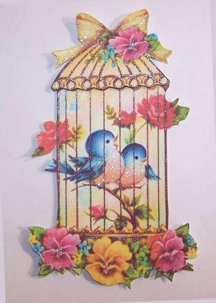 Vintage Bird Cage Card Topper